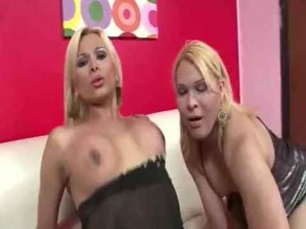 Травести Порно Групповушка с 2 tgirls секс видео