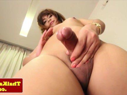 Ледибои Порно Тайский ледибой гладит ее хуй секс видео