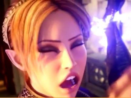 Ледибои Порно Необыкновенной красоты эльфийки трансы с большими сисяндрами ебутся на полу в замке секс видео
