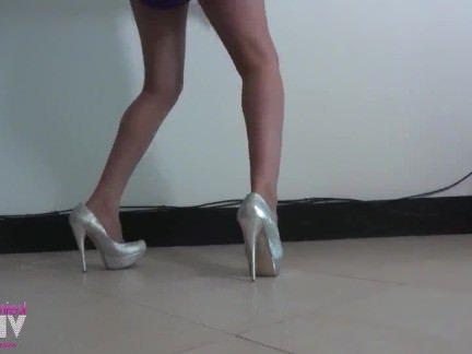 Транссексуалы Порно Keiar Верга качает ее задницу и член секс видео